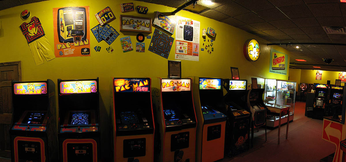 PacMan Lineup and Collectibles, including PacMan Pajama's, Pac Man Board Game